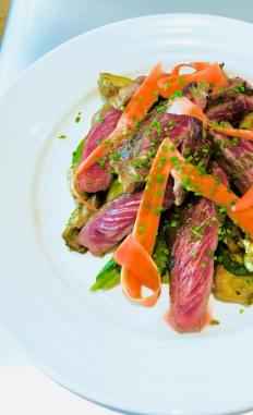Grilled Japanese Waguy Steak with Trio Vegetables