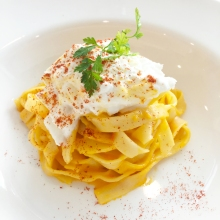 Tagliatelle with Fresh Burrata