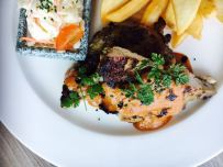 Pinoy Style Roasted Chicken with Chips & Coleslaw