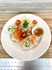 Vegetarian Vietnamese Rice Paper with Glass Noodle Salad