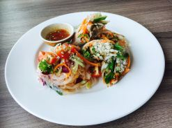 Vietnamese Rice Paper with Chicken & Glass Noodle Salad