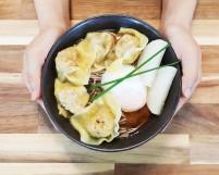 Jap Soba Noodles with Dumplings & Egg